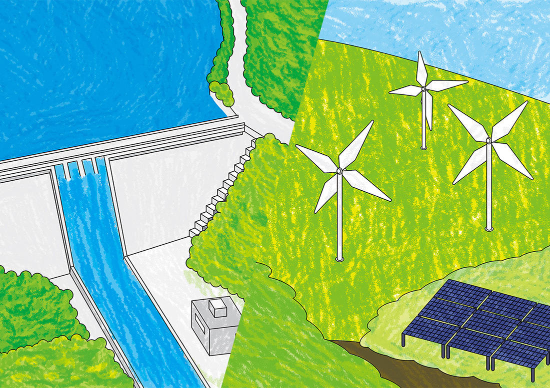 水力発電所、火力発電所など